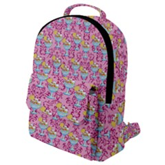 Paisley Pink Sundaes Flap Pocket Backpack (small)
