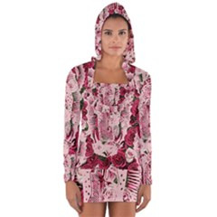 Guadalupe Roses Long Sleeve Hooded T Shirt by snowwhitegirl