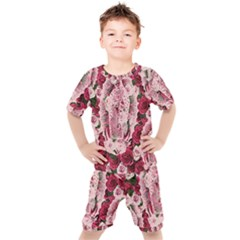 Guadalupe Roses Kids  Tee And Shorts Set by snowwhitegirl
