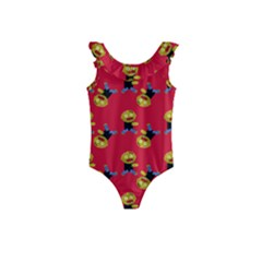 Golden Zombie Kids  Frill Swimsuit