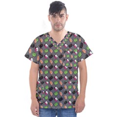 That s How I Roll   Grey   Men s V Neck Scrub Top