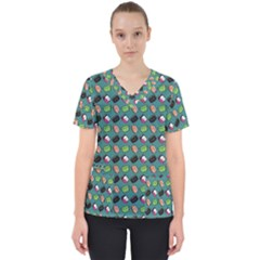 That Is How I Roll   Turquoise Women s V Neck Scrub Top
