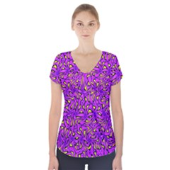 Ml 116 1 Short Sleeve Front Detail Top by ArtworkByPatrick