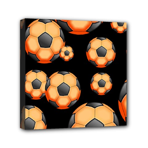 Wallpaper Ball Pattern Orange Mini Canvas 6  X 6  (stretched)