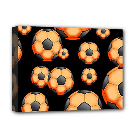 Wallpaper Ball Pattern Orange Deluxe Canvas 16  X 12  (stretched)