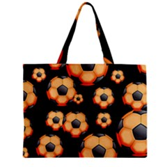 Wallpaper Ball Pattern Orange Zipper Mini Tote Bag