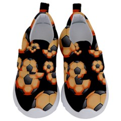Wallpaper Ball Pattern Orange Kids  Velcro No Lace Shoes by Alisyart