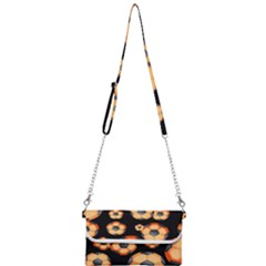 Wallpaper Ball Pattern Orange Mini Crossbody Handbag by Alisyart