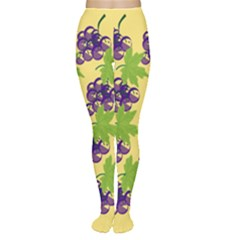 Grapes Background Sheet Leaves Tights