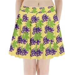 Grapes Background Sheet Leaves Pleated Mini Skirt by Jojostore