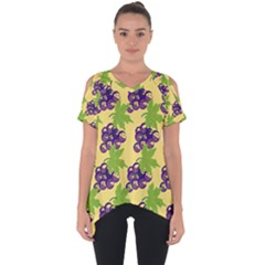 Grapes Background Sheet Leaves Cut Out Side Drop Tee