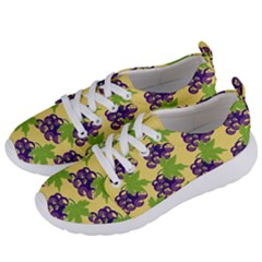 Grapes Background Sheet Leaves Women s Lightweight Sports Shoes by Jojostore