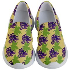 Grapes Background Sheet Leaves Kids  Lightweight Slip Ons