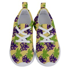 Grapes Background Sheet Leaves Running Shoes by Jojostore