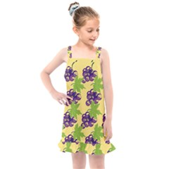 Grapes Background Sheet Leaves Kids  Overall Dress by Jojostore