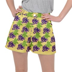 Grapes Background Sheet Leaves Stretch Ripstop Shorts by Jojostore
