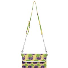 Grapes Background Sheet Leaves Mini Crossbody Handbag by Jojostore