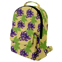 Grapes Background Sheet Leaves Flap Pocket Backpack (small) by Jojostore