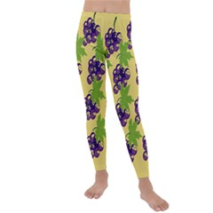 Grapes Background Sheet Leaves Kids  Lightweight Velour Leggings by Jojostore