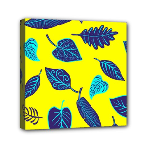 Leaves Leaf Mini Canvas 6  X 6  (stretched)
