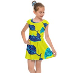 Leaves Leaf Kids  Cap Sleeve Dress