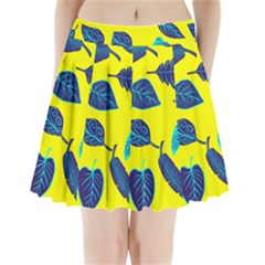 Leaves Leaf Pleated Mini Skirt by Mariart