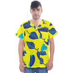 Leaves Leaf Men s V Neck Scrub Top