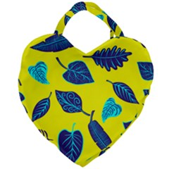 Leaves Leaf Giant Heart Shaped Tote