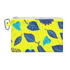 Leaves Leaf Canvas Cosmetic Bag (large)