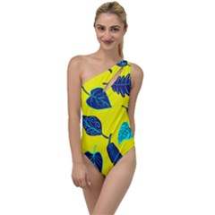 Leaves Leaf To One Side Swimsuit