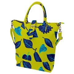 Leaves Leaf Buckle Top Tote Bag