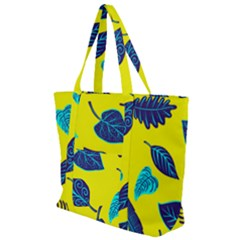 Leaves Leaf Zip Up Canvas Bag