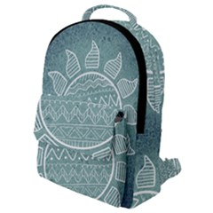 Sun Abstract Summer Flap Pocket Backpack (small)