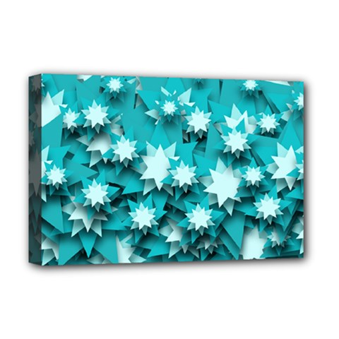 Stars Christmas Ice 3d Deluxe Canvas 18  X 12  (stretched)