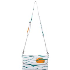 Sunset Glow Sun Birds Flying Mini Crossbody Handbag