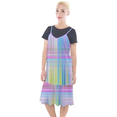 Texture Abstract Squqre Chevron Camis Fishtail Dress