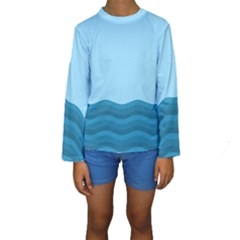 Making Waves Kids  Long Sleeve Swimwear by WensdaiAddamns