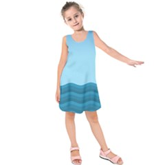 Making Waves Kids  Sleeveless Dress by WensdaiAddamns