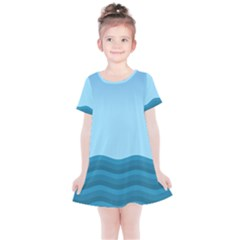 Making Waves Kids  Simple Cotton Dress by WensdaiAddamns