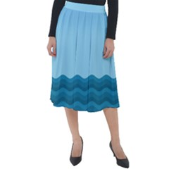 Making Waves Classic Velour Midi Skirt  by WensdaiAddamns