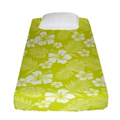 Colorful Tropical Hibiscus Pattern Fitted Sheet (single Size) by tarastyle