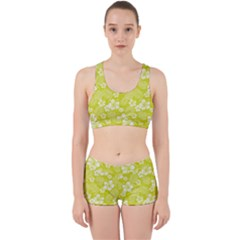 Colorful Tropical Hibiscus Pattern Work It Out Gym Set by tarastyle