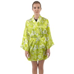 Colorful Tropical Hibiscus Pattern Long Sleeve Kimono Robe by tarastyle