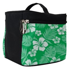Colorful Tropical Hibiscus Pattern Make Up Travel Bag (small)