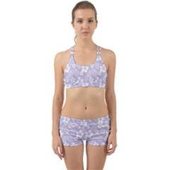 Colorful Tropical Hibiscus Pattern Back Web Gym Set by tarastyle
