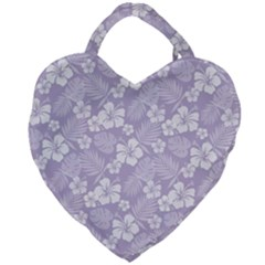 Colorful Tropical Hibiscus Pattern Giant Heart Shaped Tote