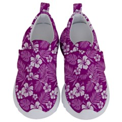 Colorful Tropical Hibiscus Pattern Kids  Velcro No Lace Shoes by tarastyle