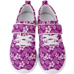 Colorful Tropical Hibiscus Pattern Men s Velcro Strap Shoes by tarastyle