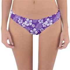 Colorful Tropical Hibiscus Pattern Reversible Hipster Bikini Bottoms by tarastyle