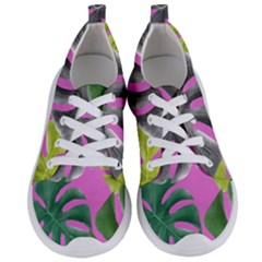 Tropical Greens Pink Leaf Women s Lightweight Sports Shoes